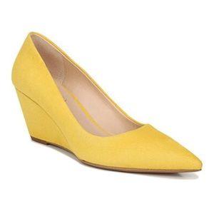 FRANCO SARTO Yellow Suede Alicia Wedge Heel 11